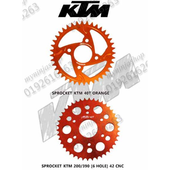 KTM RC390 //125//200//390 Duke 41T rear sprocket