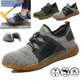 ffdeadcb30f Men's Safety Breathable Work Shoes Steel Toe Boots Indestructible ...