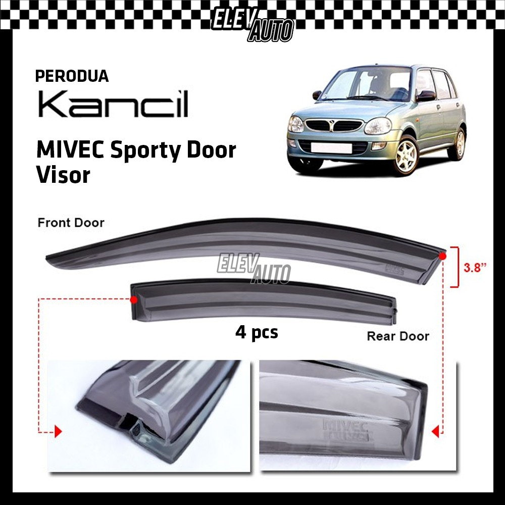 "Perodua Kancil MIVEC Sporty Injection Door Visor (3.8"")"