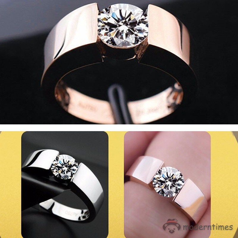 cc0e4ab88a ✡MT✡ Fashion Crystal High Polish Wedding Lovers Ring Jewelry Gifts for  Women Men