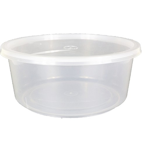 [ 5 sets / pack ] Ecohouse Round PP Food Container 3000ml (101OZ)