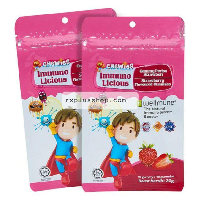 CHEWIES Immuno Licious Strawberry Gummies 20g [Exp:  20/11/2020]