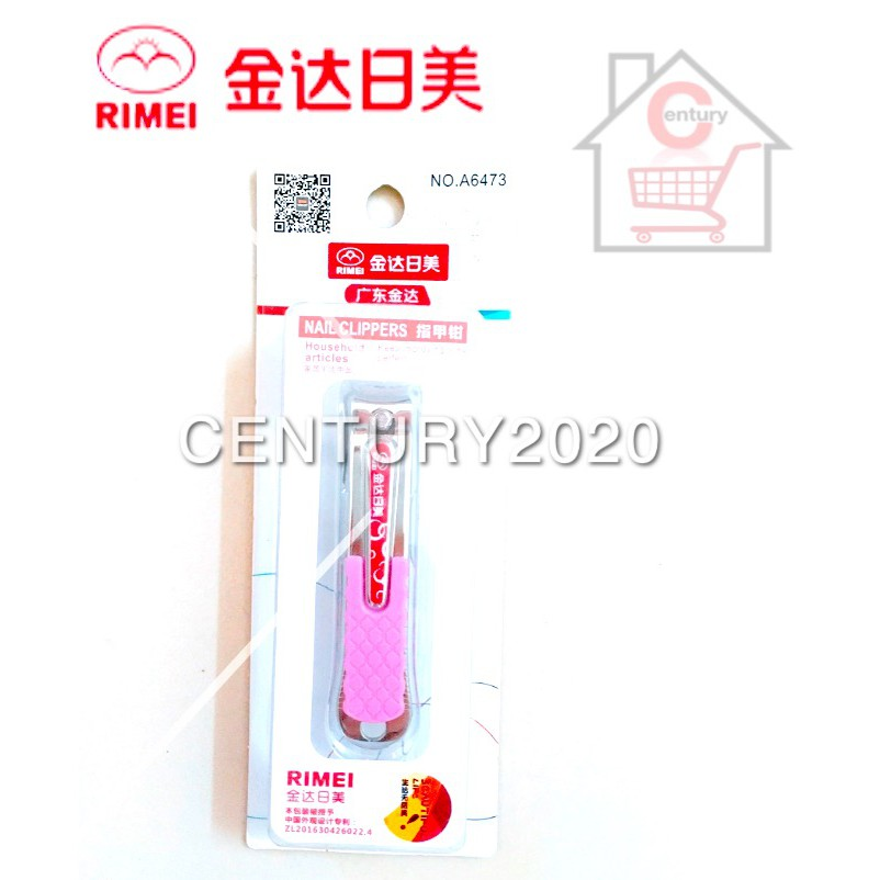 RIMEI Nail Clipper Manicure Care Nail Cutter High Grade Stainless Steel Nail Cutter A6473