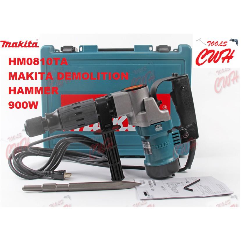 HM0810TA Makita Demolition Hammer HACKING CHISELLING 900W 17MM HEX 7.2J 6.3KG