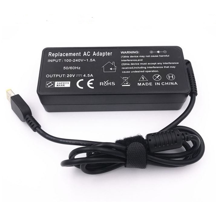 Notebook Computer Power Adapter 20V4.5A 90w Square Port Notebook  Charger