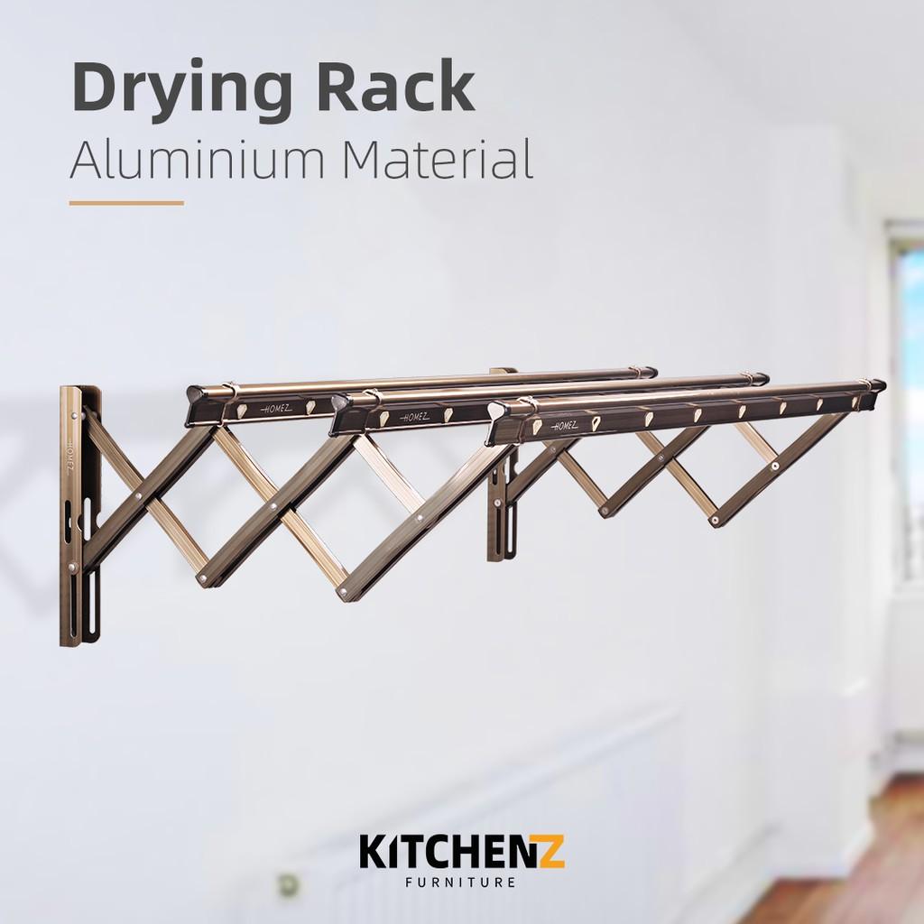 Homez 3 Bar Aluminium Anti-Rust Retractable Drying Racks -1M (W22)