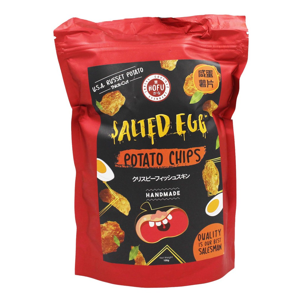 [Original] Hofu Salted Egg Potato Chips (Thick-Cut) Packet (100g) 黄金咸蛋香脆薯片(厚切)