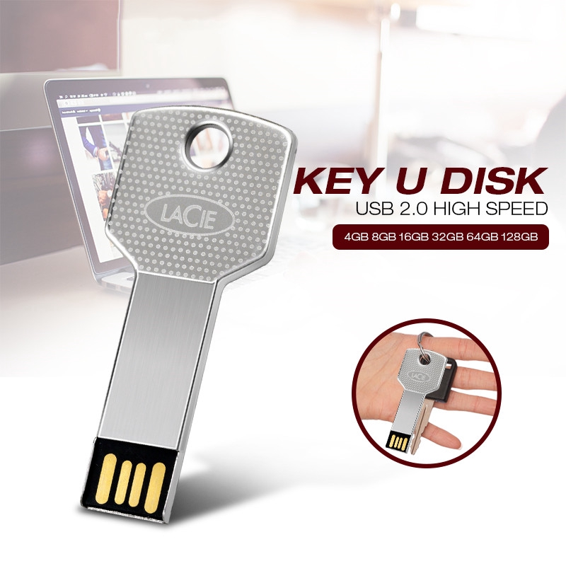 Metal Key chain USB Flash Drive 128GB 64GB 32GB 16GB 8GB Pendrive U disk