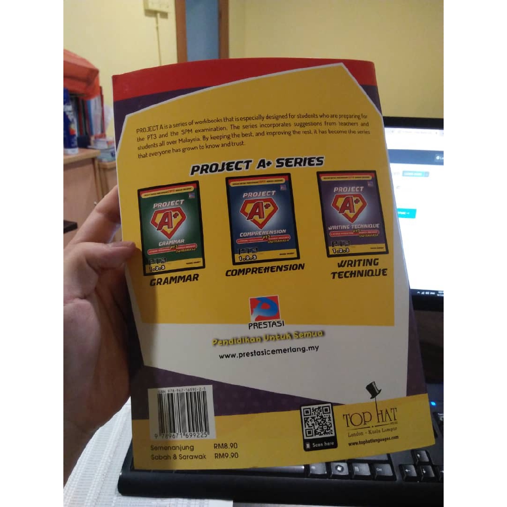 Great Discount Project A+ Writing Technique Exercise Book Secondary School PT3 English Dwibahasa Common Exam Topics (Re