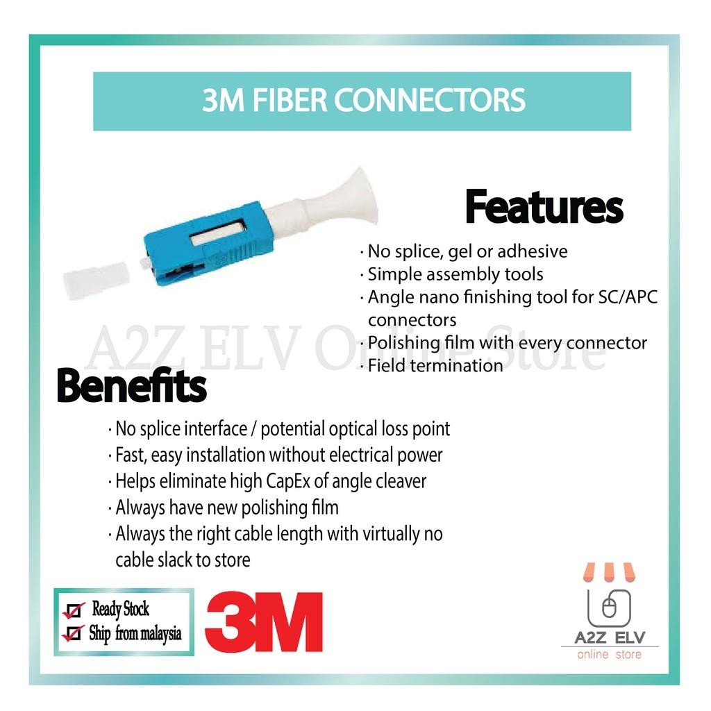 3M 8800 NPC SC SM Plug 250/900um W/Tool - Field Installable Connectors