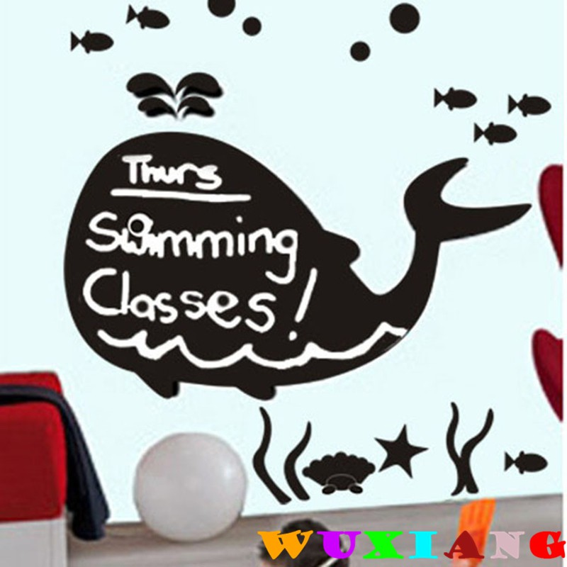 【wuxiang】Cartoon Abstract Whale Wall Sticker DLXB016S | Shopee Malaysia