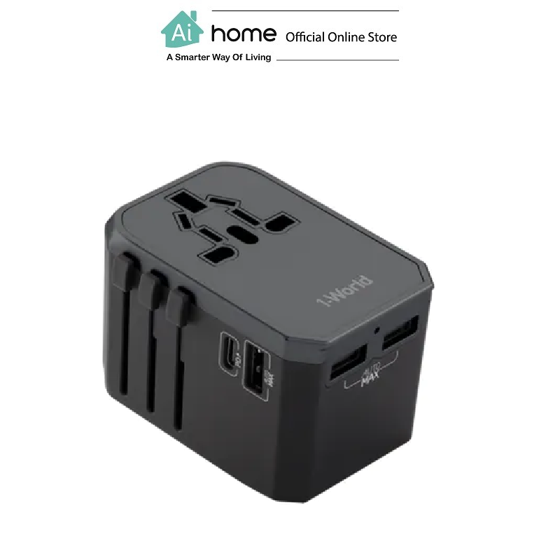 MOMAX 1-World USB PD+3USB Travel (Adaptor) [ Ai Home ]