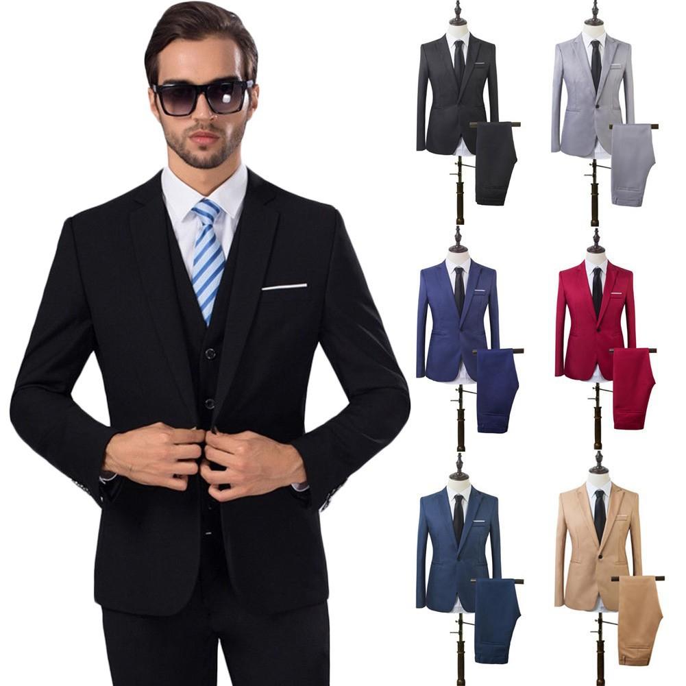 12PCS Lelaki Blazer Suit Fit Tuxedo Pengantin Perkahwinan formal