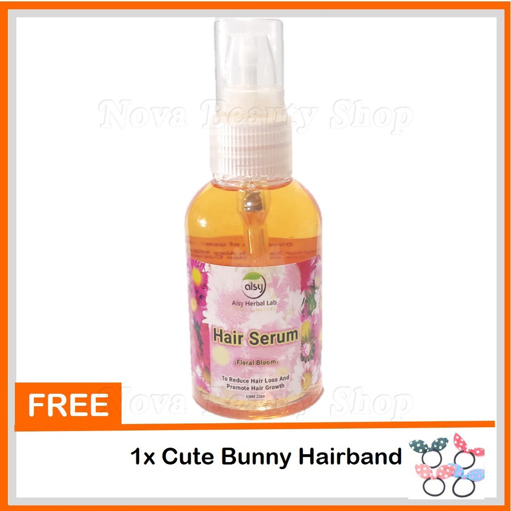 🌸Aisy Hair Serum Floral Bloom Fresh🌸 65ml Serum Rambut Kelemumur Gugur Lebat Hitam Bersinar