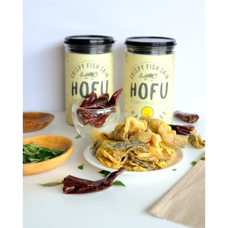 [Original] Hofu Salted Egg Crispy Fish Skin Twin Pack (145g x 2 bottles) 黄金咸蛋香脆鱼皮