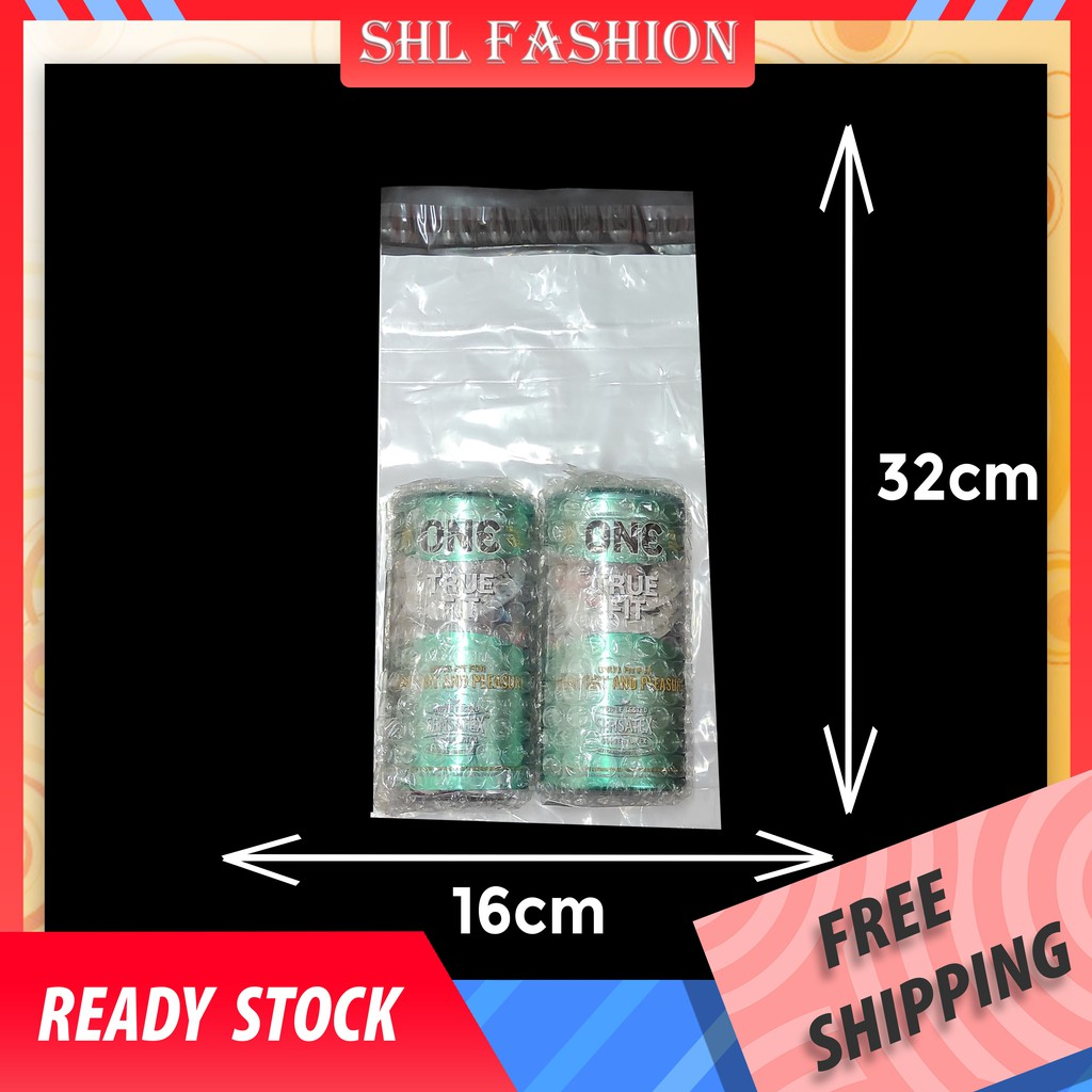 SHL 50pcs A5 White Small S Courier Bag With Pocket Packaging Plastic Kurier 快遞袋 Parcel Flyers Flyer Plastik Pos