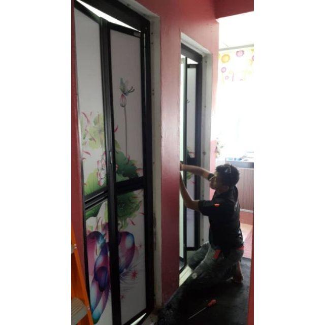 Pintu Tandas Bi Fold Mudah Lipat Onitek