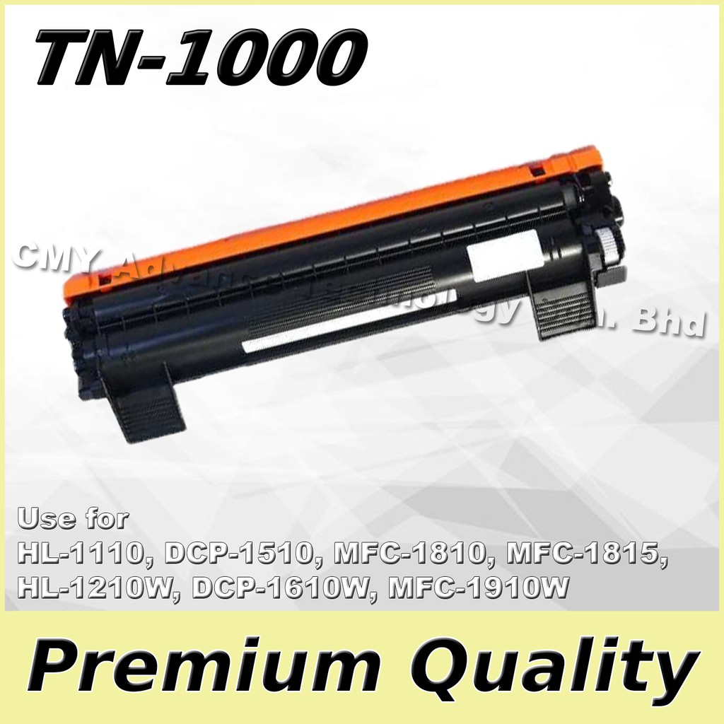 Brother TN-1000 TN1000 Compatible Toner for DCP1510 DCP1610W MFC1810 MFC1815 MFC1910W MFC1915W HL1110 HL1110