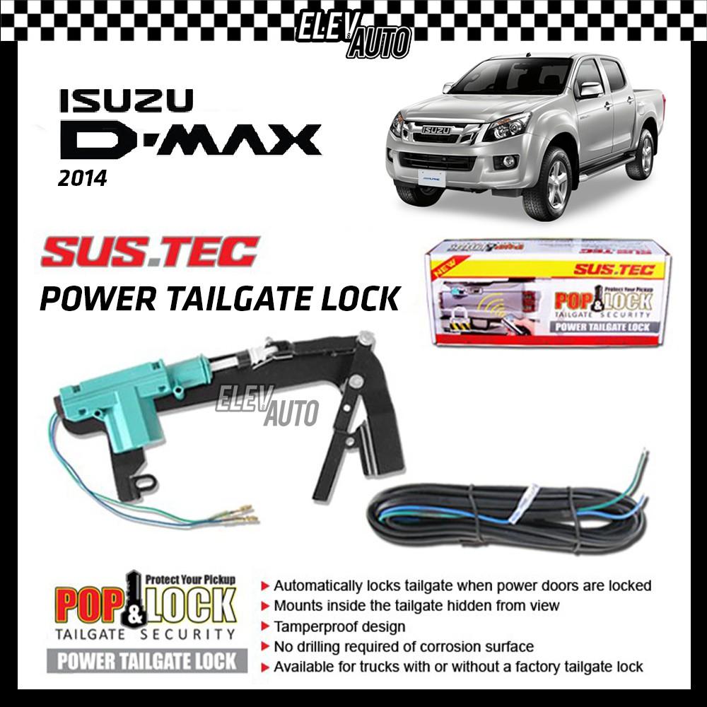 SUSTEC Power Trunk Tailgate Lock Pop & Lock Tail Gate Security Isuzu D-Max Dmax D Max 2014-2020