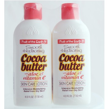 Fruit Of The Earth Cocoa Butter Lotion 118mlx2