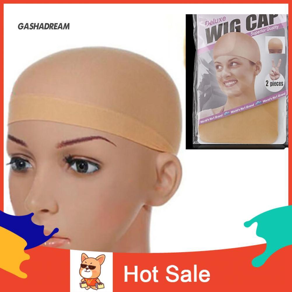 ♉GD 2pcs Unisex Elastic Wig Caps Glueless Hair Mesh Net Liner Stretch Nylon Snood