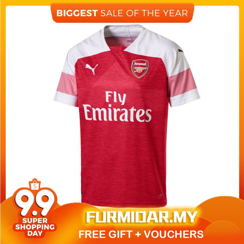17b2fa39c Arsenal home jersey 2018-19 football soccers fan issues jersey wear copy ori