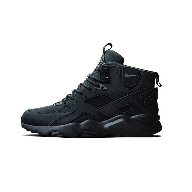 the best attitude 5ff14 bde52 Kasut Nike Air Huarache High All Black Men sport running shoes ready stock