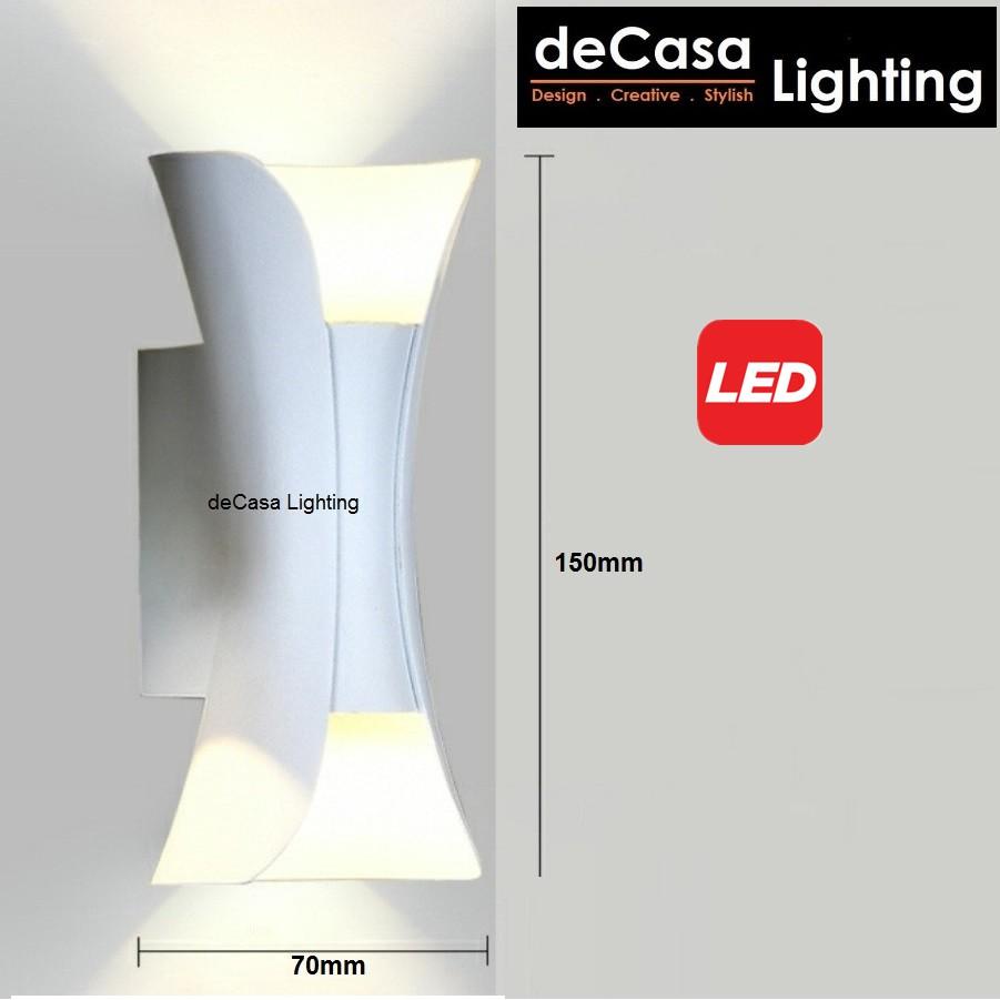 DECASA LIGHTING 10W Led Wall Light UpDown Outdoor Effect Wall Lamp Designer Lighting Lampu Dinding Outdoor Lighting BD05