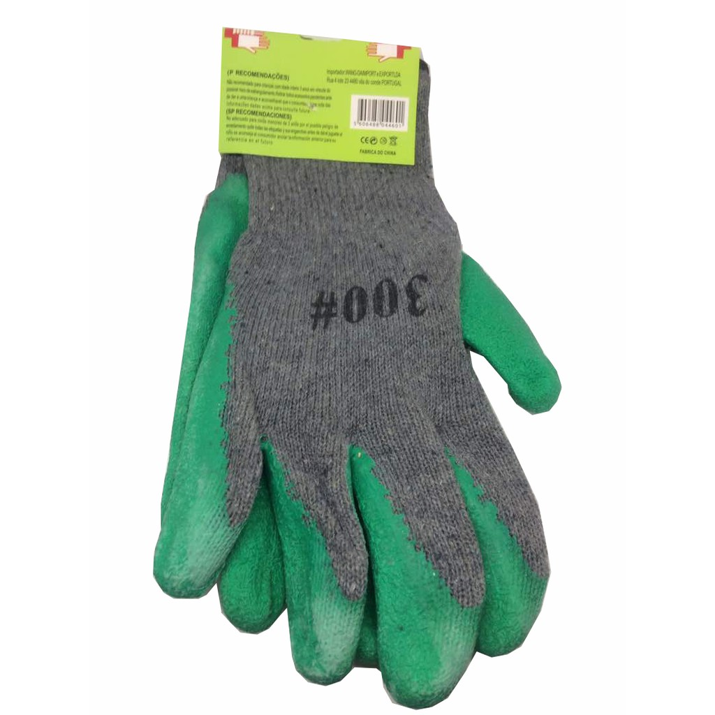 Glove 300 & 1000 Rubber Anti Slip Rubber Coated Cotton Hand Gloves 1 pair
