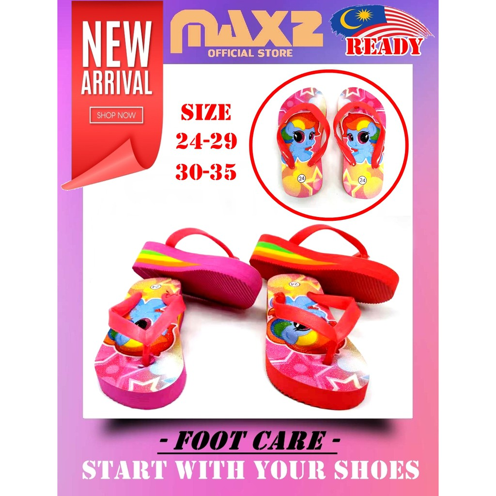 Ready Stock Baby / Kids  Girls Cartoon Wedges Sandal
