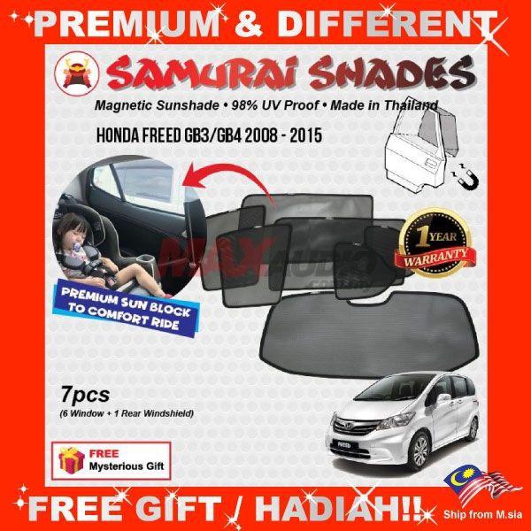 [FREE Gift] HONDA FREED GB3/ GB4 2008 - 2015 SAMURAI MAGNETIC WINDOW SUNSHADES
