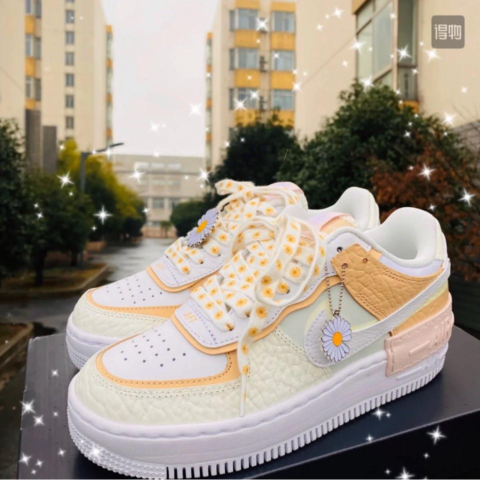 Nike Wmns Air Force 1 Shadow Tropical Twist Macaron Daisy Skate Shoes For Women 36 40 Shopee Malaysia