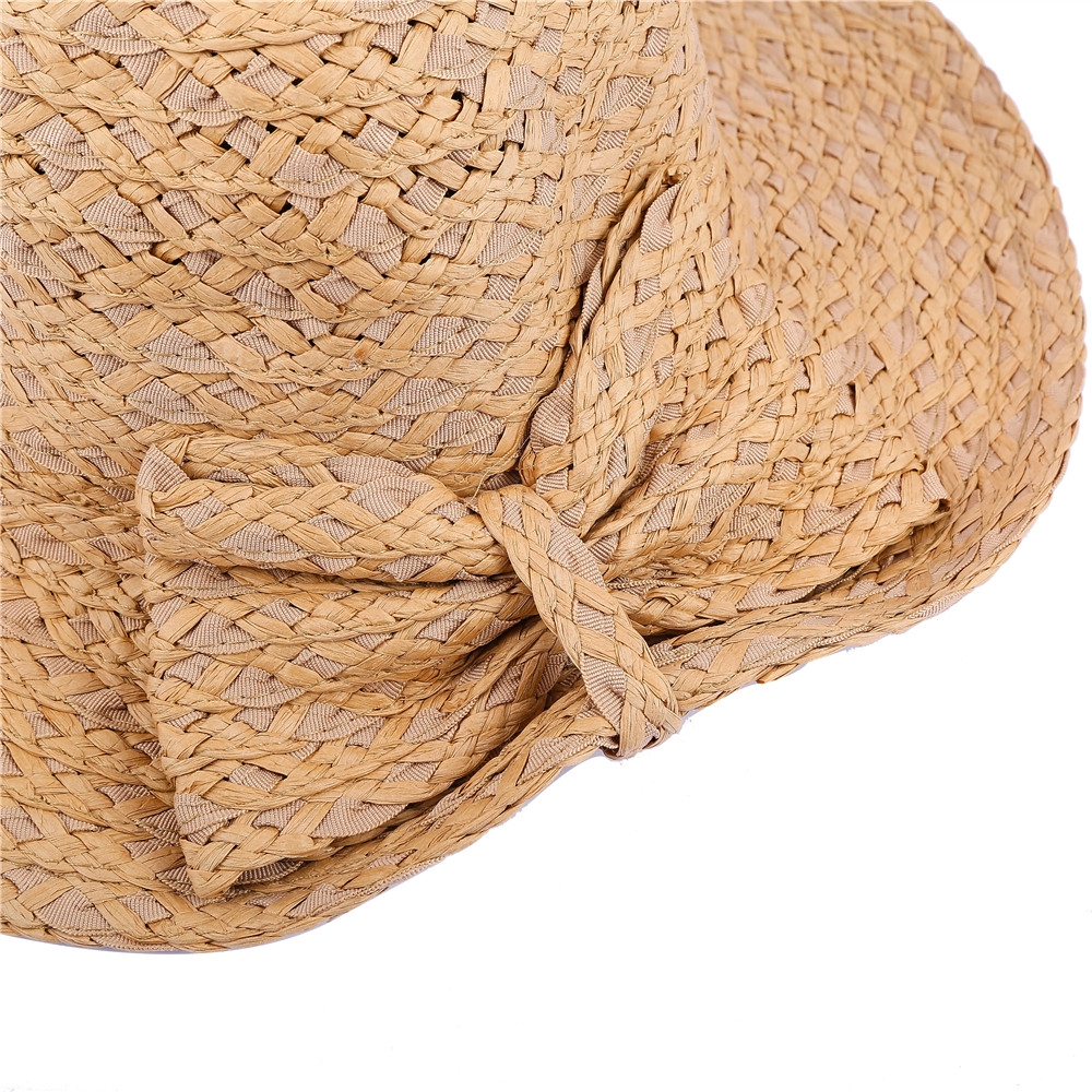 SALYBABY Summer Cute Straw Bow-Knot Sun Protection Hat