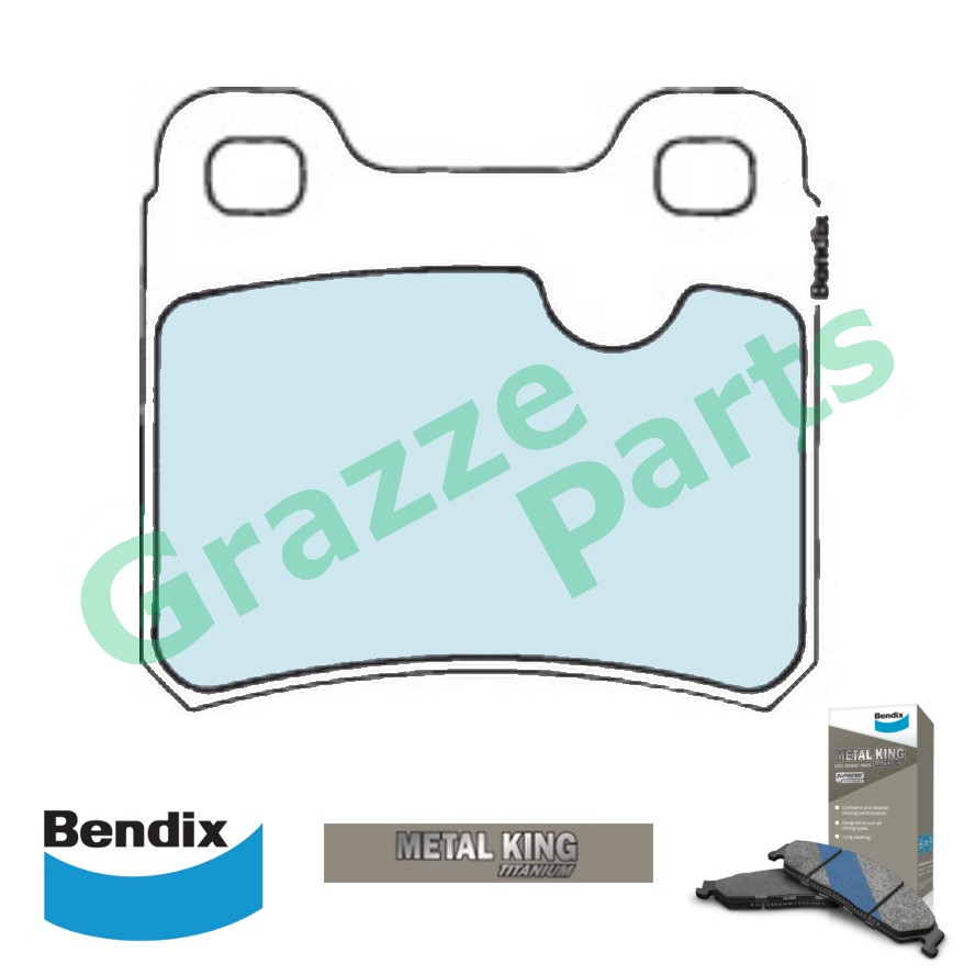 Bendix Metal King Titanium Disc Brake Pad Rear for DB1229 Opel Astra Vectra