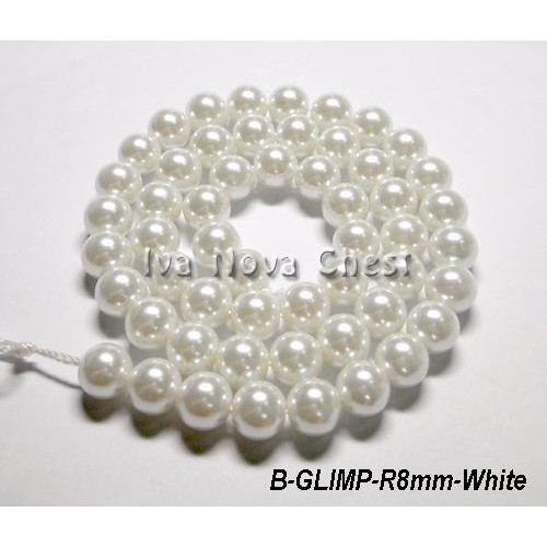 Wholesale 3~8mm Round Pearl Coated Opaque Glass Loose Beads Jewelry Findings