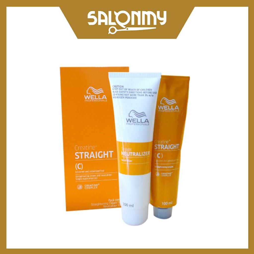 Wella Straight Hair Straightening Cream (C) (100ml + 100ml)