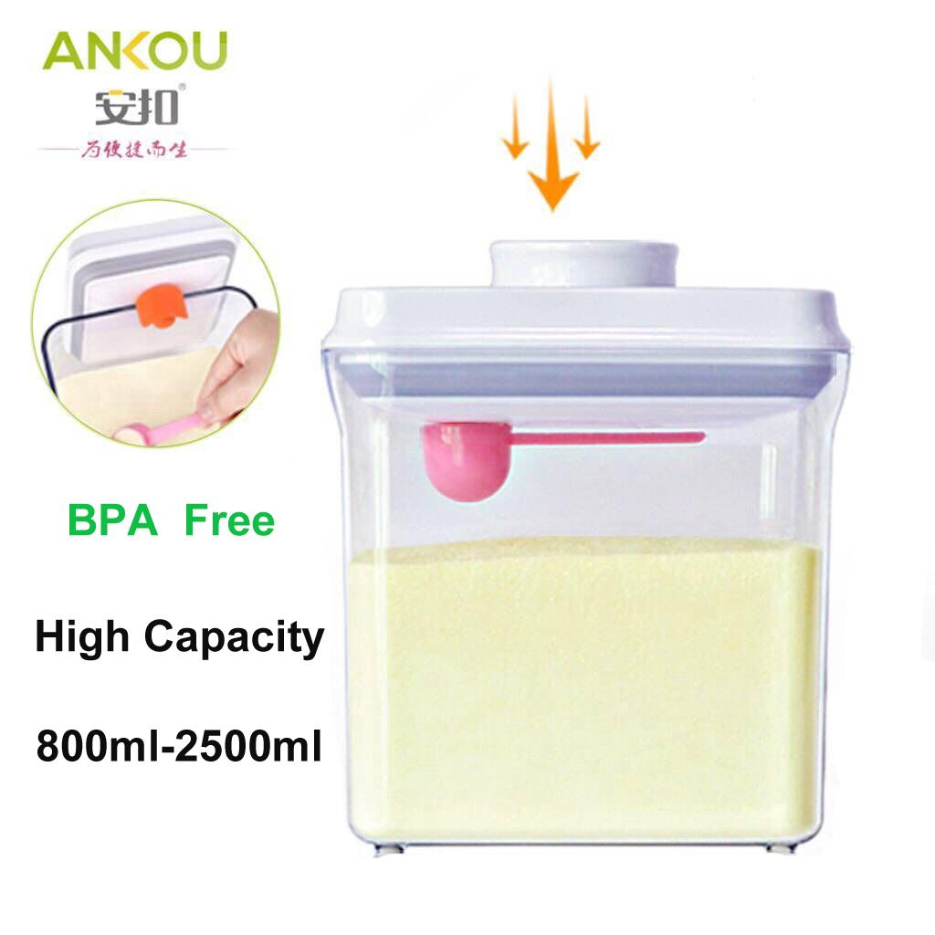 Ankou Air Tight Container 1700ml(RECTANGLE) / Milk Powder Container
