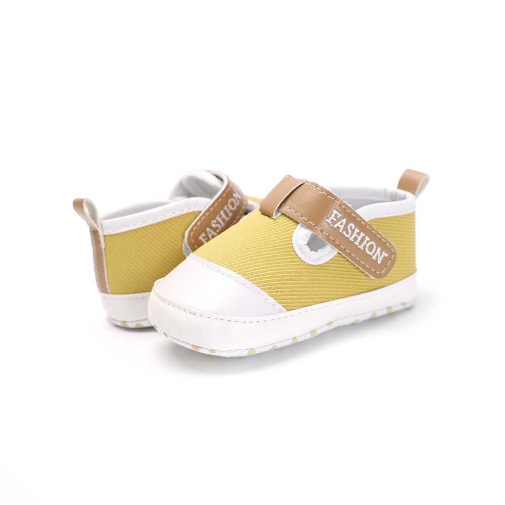 Infant Toddler Baby Casual Shoes Cotton Soft Sole Non-Slip Sneaker Prewalker Yellow 4M (Yellow)