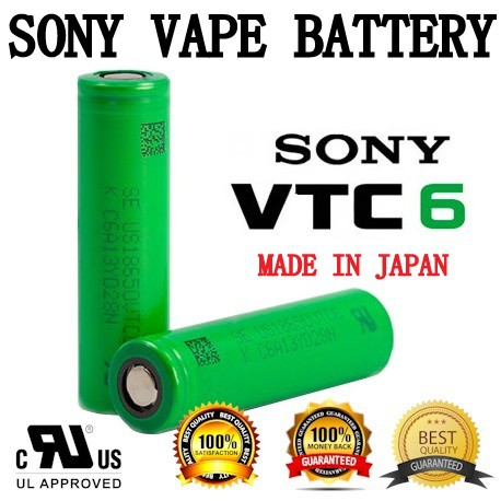 Authentic Sony VTC6 Rechargeable 18650 3000mAh 3100mAh Lithium Ion 30A vape Battery High Drain Performance hg2 30q awt