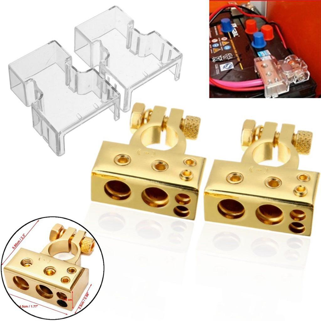 4 8 Awg Car Battery Terminals Clamps Connector A Pair Shopee Malaysia