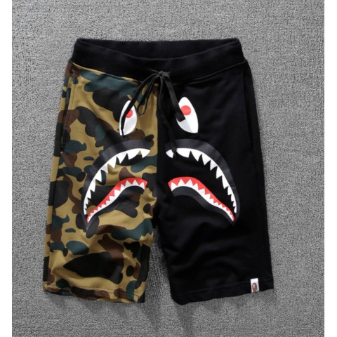 New 2018 Men Bape Ape Bathing Shark Jaw Monkey Head Pants Shorts Casual Trousers