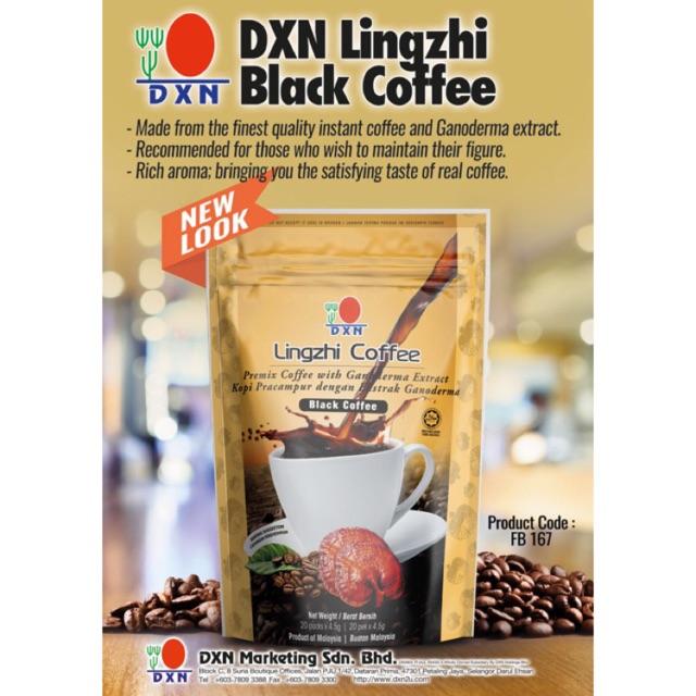 DXN Lingzhi Black Coffee with sugar (20 sachets)  f98ff2ef70