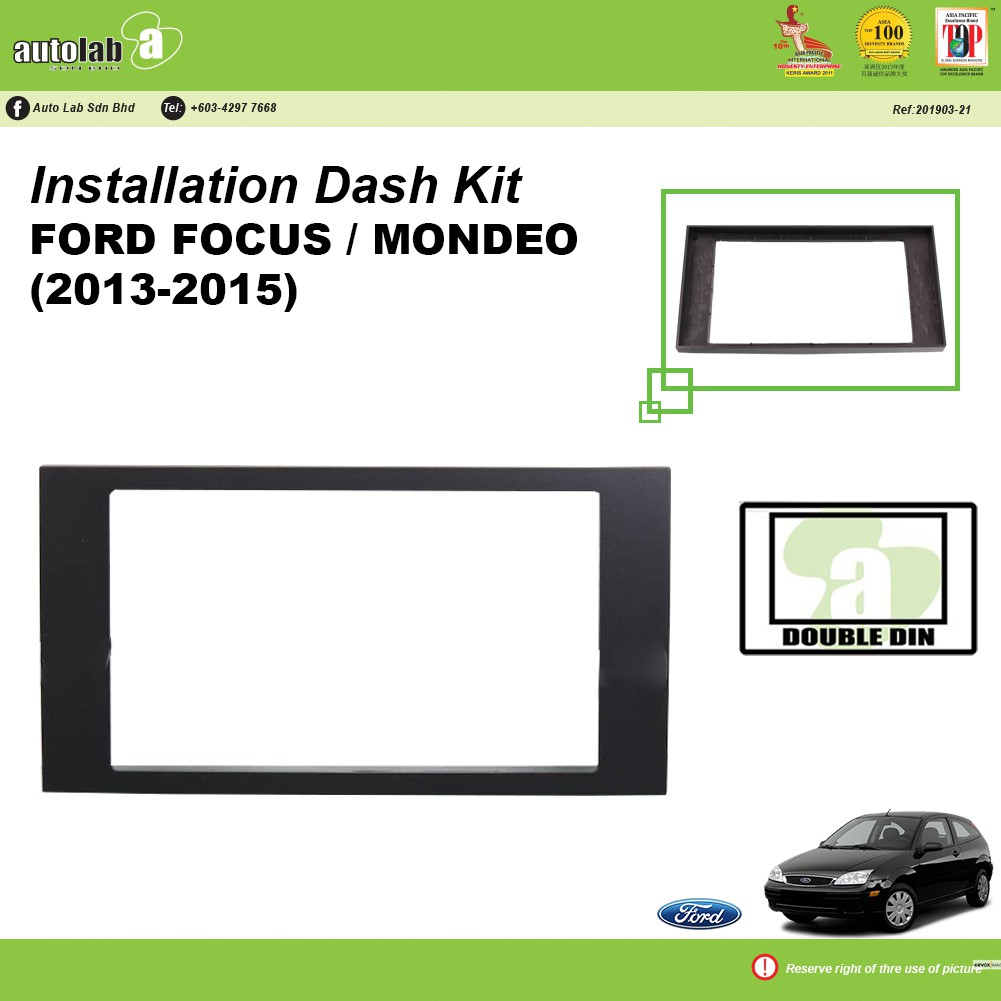 Player Casing Double Din Ford Focus (2005-2008)
