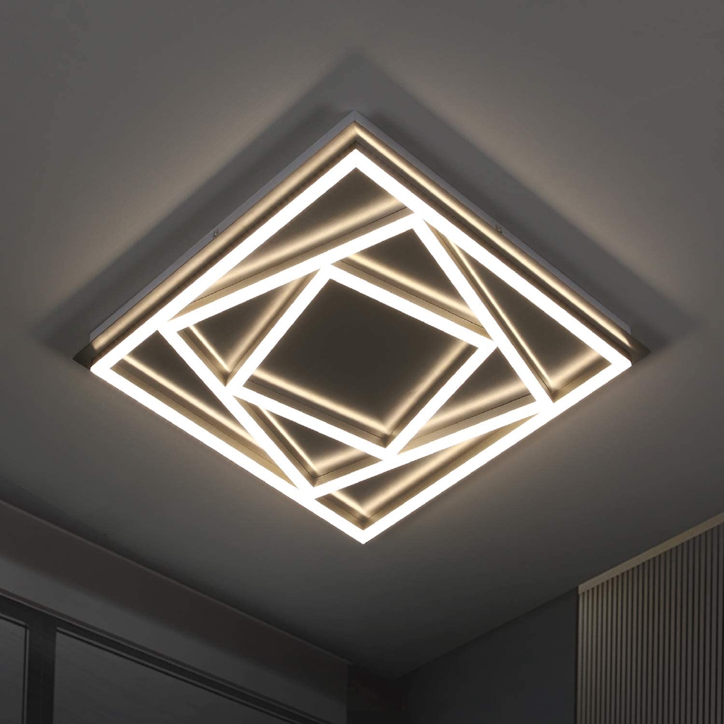 Led Ceiling Light 45w Modern Ceiling Lamp 4000k Chandelier Lampu For Living Room Office Bedroom Kitchen Shopee Malaysia