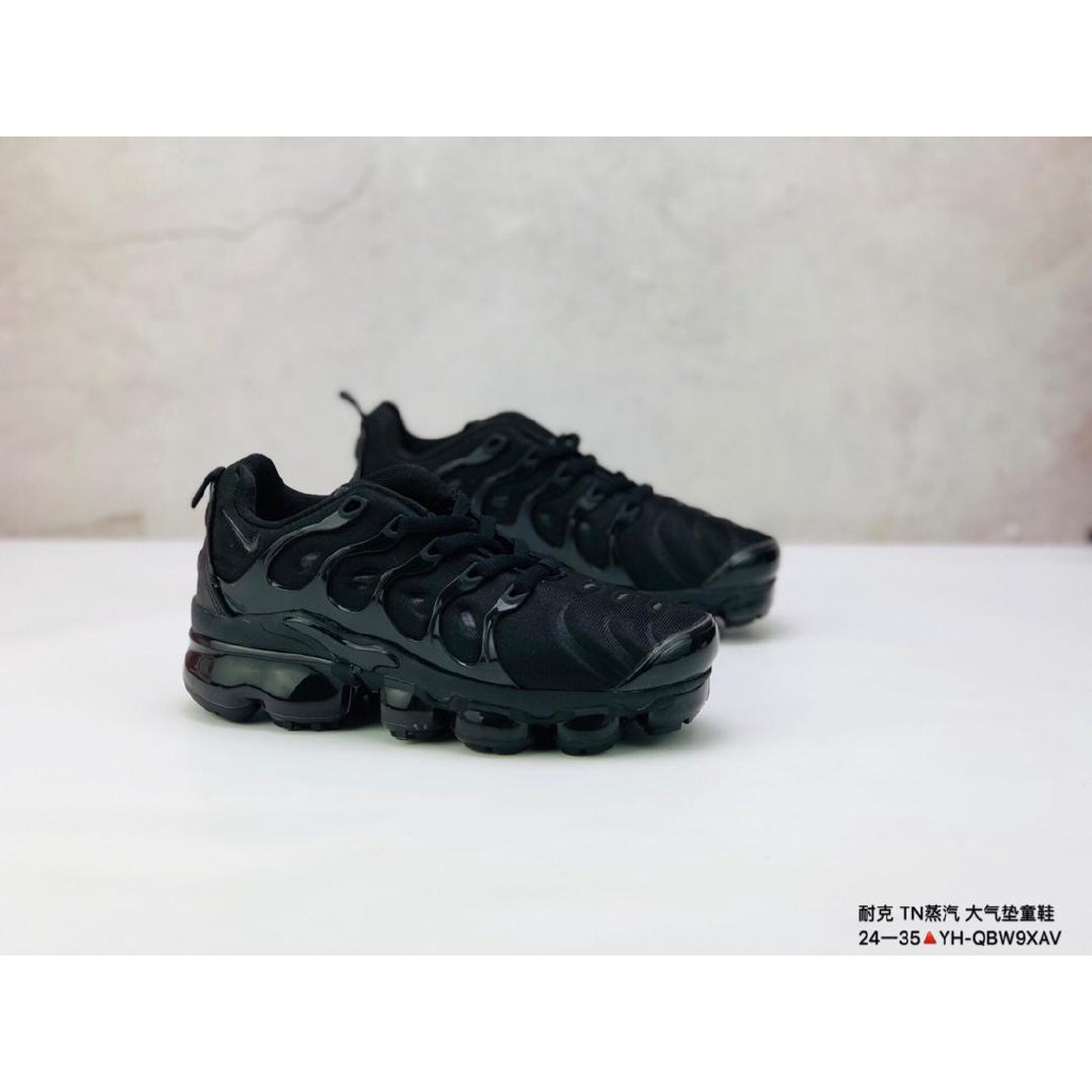 autumn shoes best sale Nike Air VaporMax Plus for kids running shoes all black for boy's ...