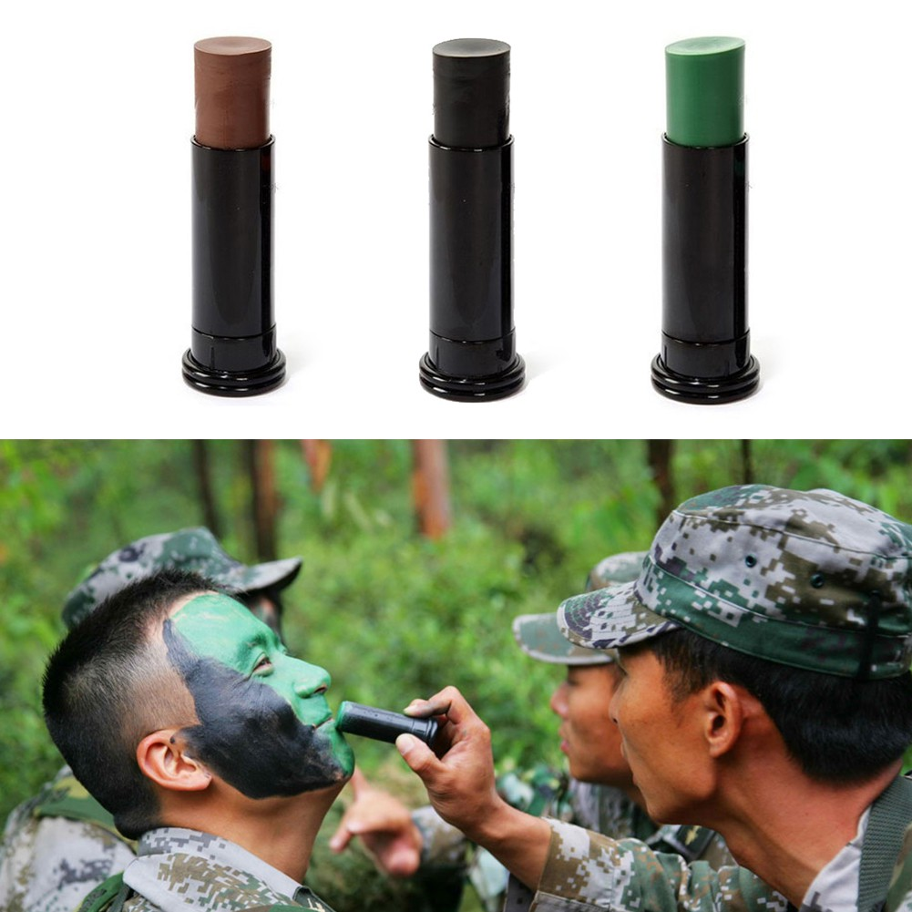 [MOCEAN] Camouflage Camo Color Cream Body Face Paint Tube Sti for Outdoor  Field
