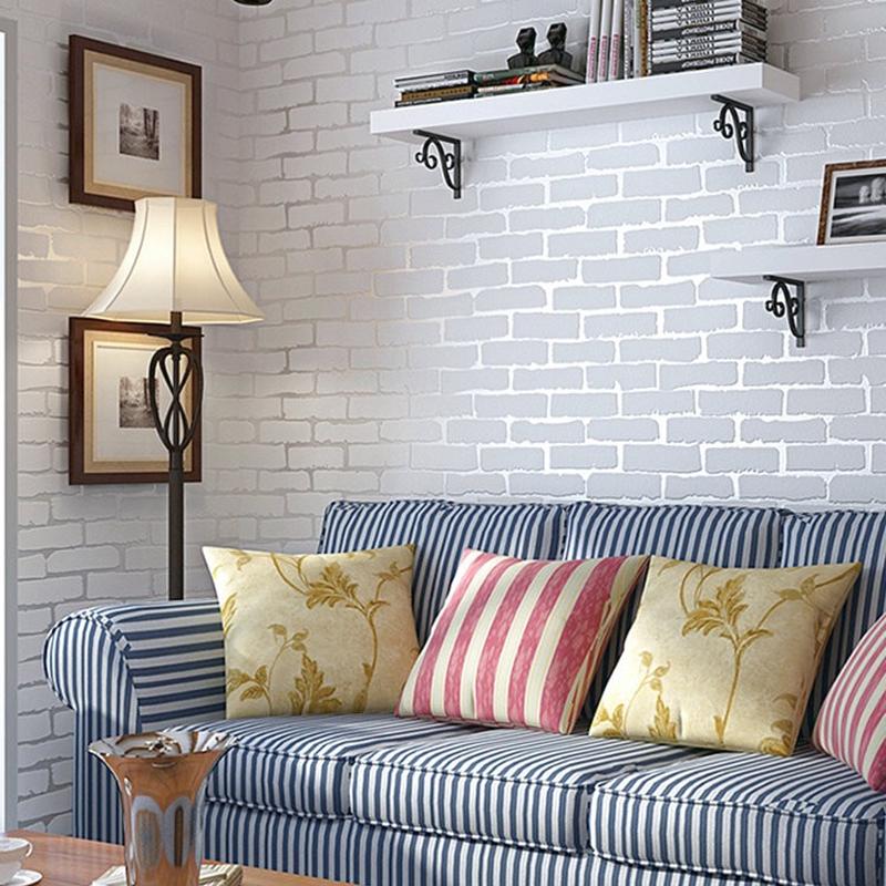 3d Brick Wallpaper Living Room Bedroom Tv Background Wallpaper Shopee Malaysia