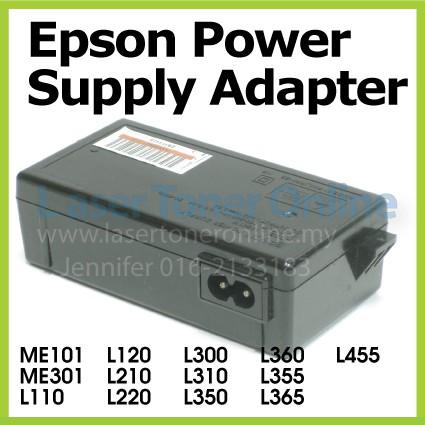 Epson Printer Original Power Supply Adapter Me101 Me301 L110 L120 L210 L220 L300 L310 L350 L360 L355 L365 L455 Used Shopee Malaysia