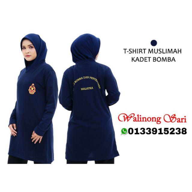 T Shirt Kadet Bomba Muslimah Shopee Malaysia