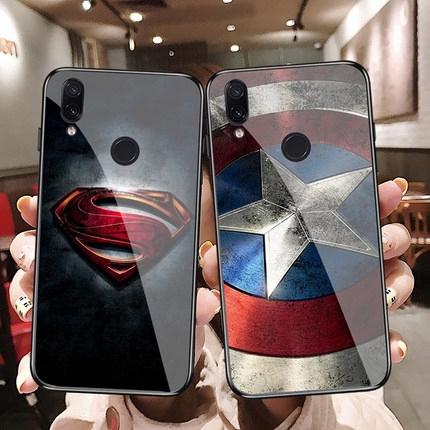 Xiaomi redmi note7 redmi7 6A redmi6 6pro cartoon Hero Tempered Glass Phone